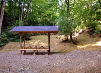 A new shelter on the Nature Trail at Saint Albans City Park was built by Eagle Scout Will Robinson.