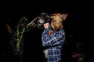 The Pig Man is among the most memorable villains at Fright Nights at The Resort at Glade Springs.