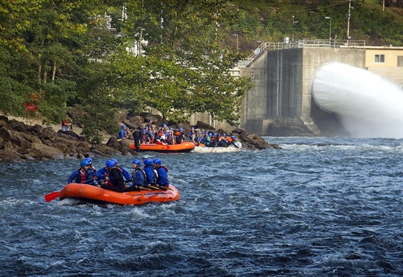 Rafters rafting with Adventures on the Gorge prepare for an adventure on the Gauley River.