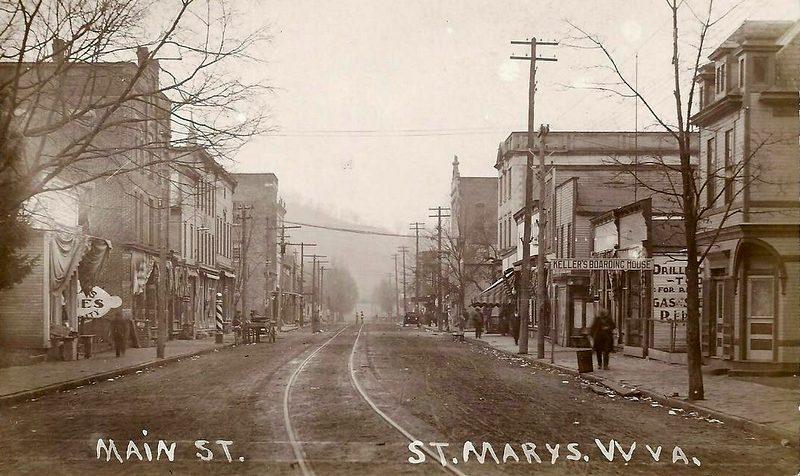 Saint Marys, West Virginia, as it appeared in 1914