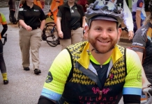 Seth Withers, marketing consultant for West Virginia Explorer, gears up for a bike race.