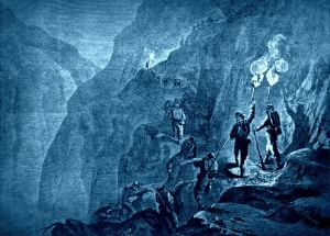 """""""The Ascent of Gauley Mountain, in Western Virginia by the Twelfth Ohio Regiment,"""" from Harpers Illustrated, October 5, 1861."""