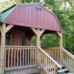 A new cabin at Jenny Gap Campground welcomes guests to the Guyandotte Mountain backcountry.