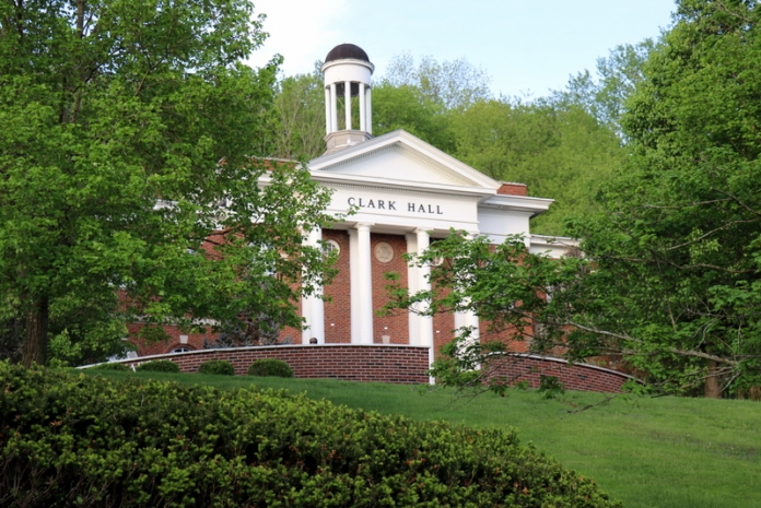 Clark Hall stands near the highest point on the campus of Glenville State College in West Virginia.