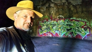 David Sibray visits an abandoned bunker in the TNT Area in the McClintic Wildlife Management Area.