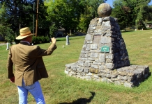 A pyramidal monument was raised at Lewisburg, West Virginia, to the memory of frontier hero Dick Pointer.