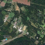 A Google Earth view of the Ohio Valley includes the grid within the McClintic Wildlife Management Area known as the