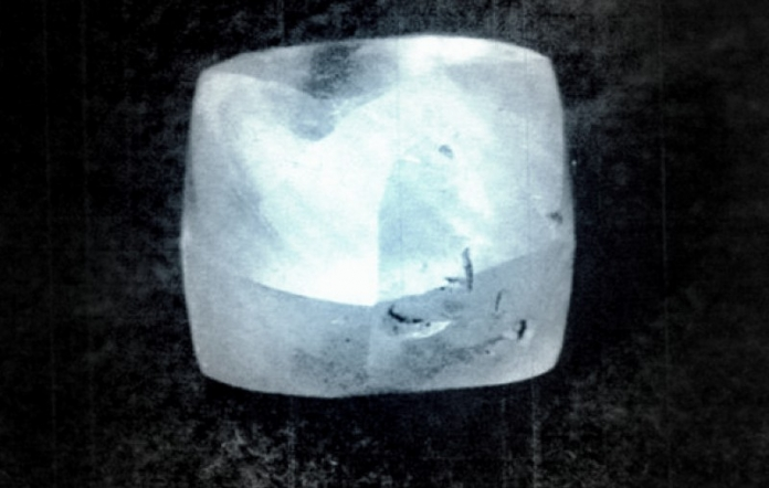 The Punch Jones Diamond, one of the world's largest alluvial diamonds, found in West Virginia.