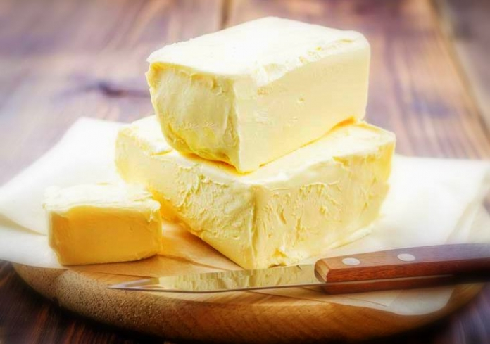 Homemade butter awaits a West Virginia home-cooked meal.