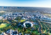 Adelaide, Australia, extends toward the Mount Lofty Ranges.