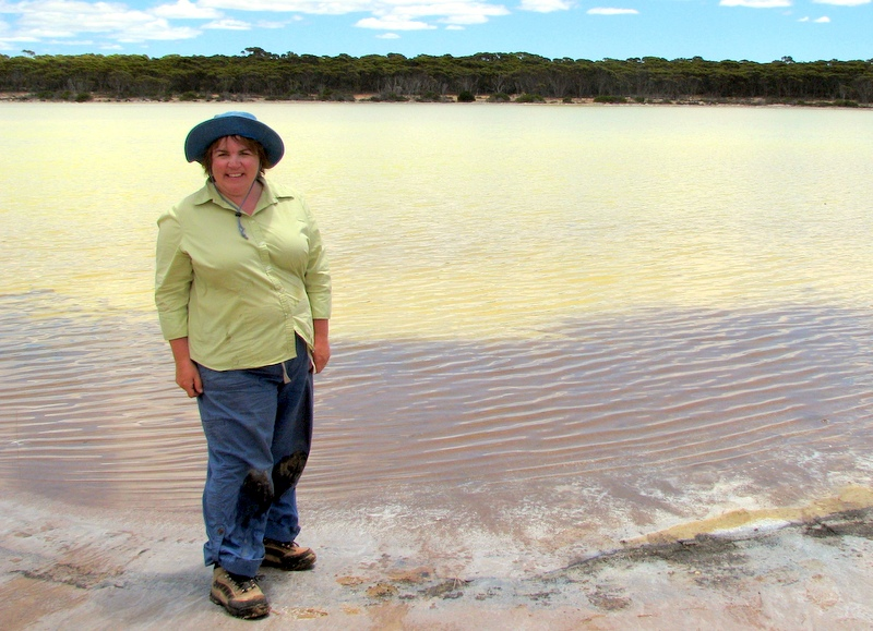 Benison investigates an acidic salt lake in Western Australia.