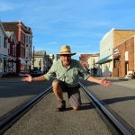 David Sibray surveys Second Street in downtown Saint Marys, West Virginia.