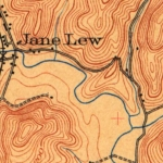 A Native American village existed on this site along Hacker's Creek near Jane Lew, West Virginia.