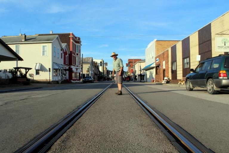 Railroad runs through the heart of this West Virginia town