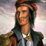 """Tecumseh""—from John Lossing's engraving in wood after a pencil sketch by Pierre Le Dru taken about 1808."