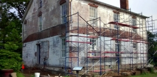 The historic jailhouse at Beverly, West Virginia, is being restored to its original appearance.