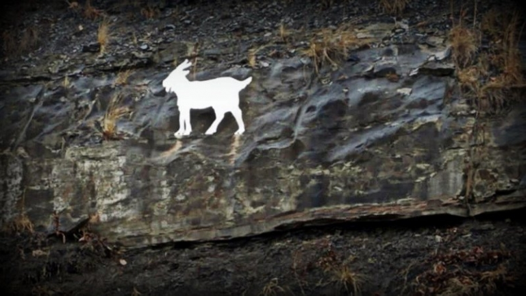 Monument to goat mysteriously appears in central W.Va.
