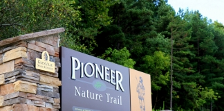 Trailhead at Pioneer Nature Trail at Glenville. (Photo: Glenville State College)