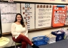 Taylor Mazelon records herself teaching in her pre-K classroom.