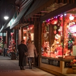 Visitors tour a line of decorated shops during the Bramwell Christmas Tour of Homes. (Photo: Mercer County CVB)