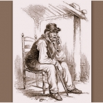 "In the 1850s, illustrator Porte Crayon (David Hunter Strother) captured Henry Church ""Old Hundred"" for Harper's Magazine."