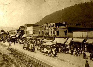 Montgomery, West Virginia, as it appear about 1910. (Photo: Joe Green Collection)