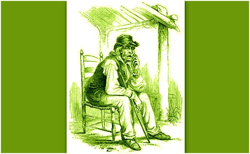 "In the 1850s, illustrator Porte Crayon (David Hunter Strother) captured Henry Church ""Old Hundred"" for Harper's Magazine."