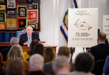 Governor Justice lauds the first increase in hunting and fishing licensure since 2013.