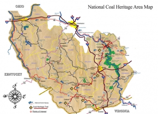 Map of the National Coal Heritage Area
