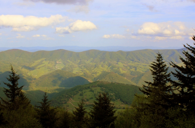 Looking across the Potomac Highlands of West Virginia, mountain ranges recede into the distance. (Photo courtesy WVU)