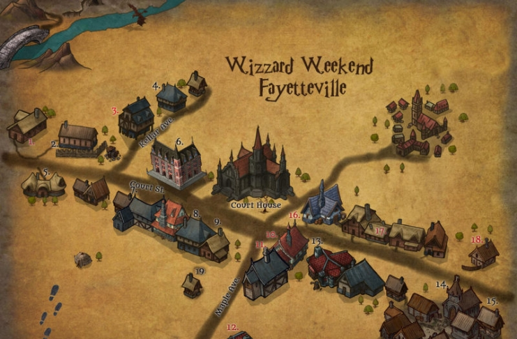 Fayetteville will transform into a magical village during Wizard Weekend.