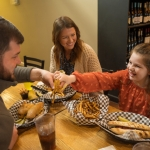 A family dines at The Olive Tree Cafe in South Charleston, West Virginia.