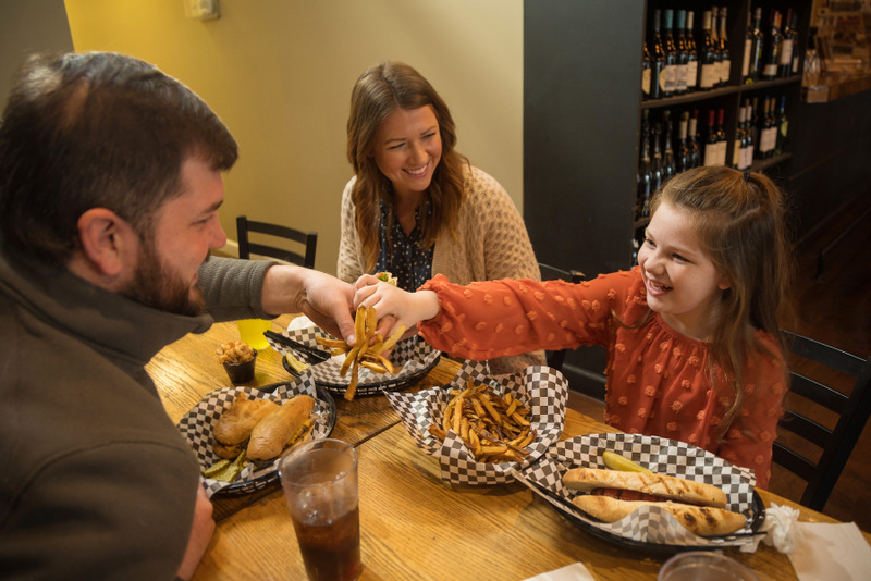 A couple dines at Cafe Appalachia, a favorite new eatery in South Charleston.