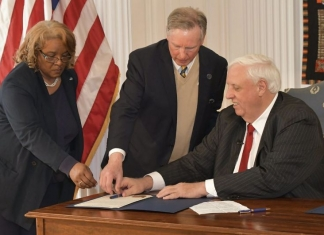 Governor Jim Justice today signed a bill that established Bluefield State College.
