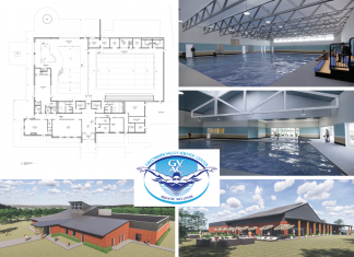 Plans for the Greenbrier Valley Aquatic Center call for a 22,400-square-foot main building with three pools.