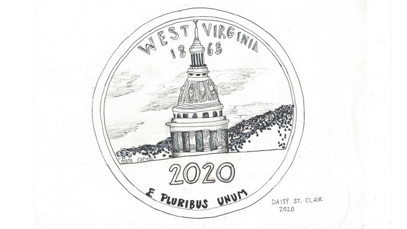 Daisy St. Clair, of Huntington High School, was honored for her representation of the West Virginia Capitol.