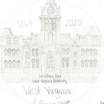 Cheylin Woodruff, of Pocahontas County High School, won seventh place with her representation of Woodburn Hall at WVU.