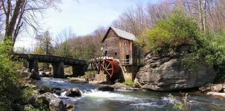 The Glade Creek Gristmill at Babcock State Park has become an icon of West Virginia rurality.