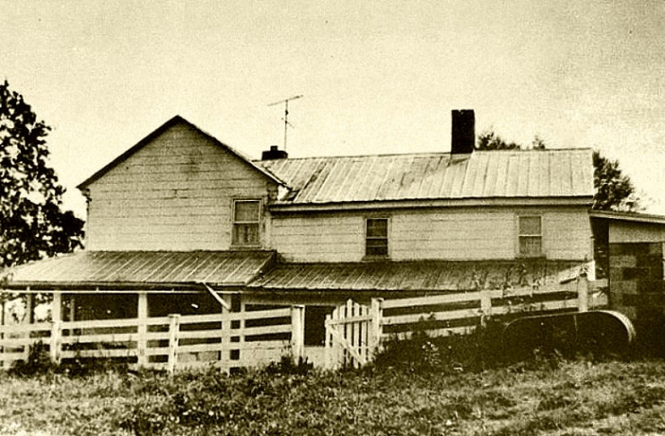 The home of the unfortunate Mary Heaster Shue still stands in the Allegheny foothills near Rainelle, West Virginia.