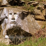A six-foot-tall face carved by an eccentric sculptor in a cliff near Ripley, WV, is attracting more attention.