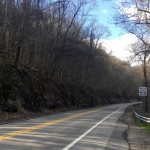 W.Va. Route 62 follows the flank of Sliding Hill between New Haven and Hartford City.