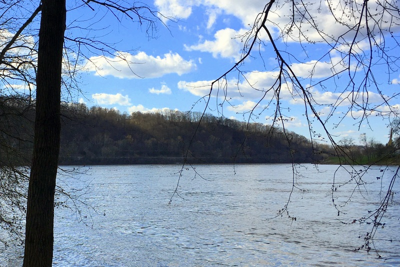 Sliding Hill rises along a bend in the Ohio River in Mason County.