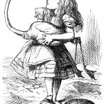 """Alice plays Croquet"" illustration by John Tenniel"