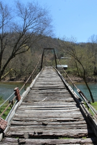 The Elkhurst Swinging Bridge over the Elk River is now being considered for restoration as a historical attraction and pedestrian trail access.