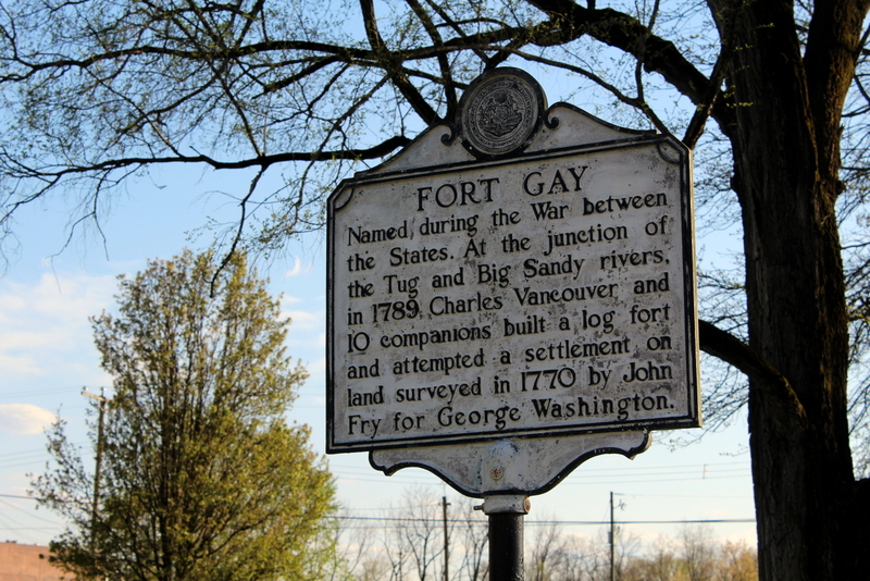 A historical marker at Fort Gay, WV (West Virginia), commemorates the community's establishment.