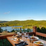 Guests of Lightburns Restaurant enjoy spectacular views of Stonewall Jackson Lake at Stonewall Resort.
