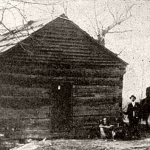 Photo of cabin supposed to be the original Mount Hope School, c. 1872.
