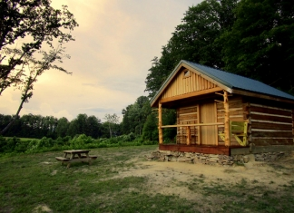 Mountaintop cabin at Camp Creek State Forest