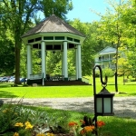 The bandstand at Capon Springs is a favorite gathering place for guests.