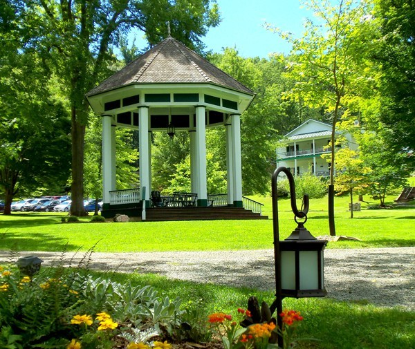 The bandstand at Capon Springs is a favorite gathering place.
